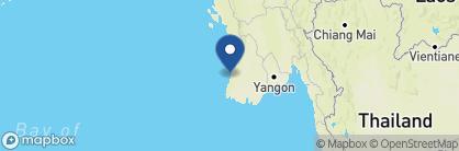 Map of Bay of Bengal Resort, Myanmar