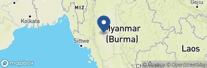 Map of Bagan Lodge, Myanmar