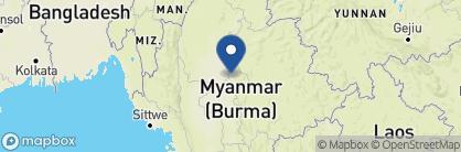 Map of Mandalay Hill Resort, Myanmar