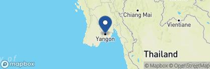 Map of Belmond Governor's Residence, Myanmar