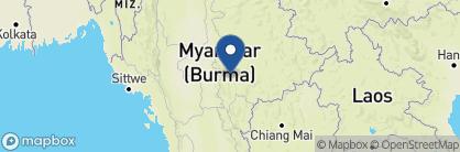 Map of La Maison Birmane, Myanmar