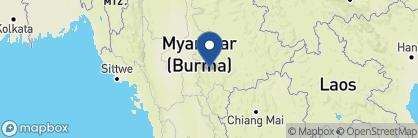 Map of Villa Inle Resort, Myanmar