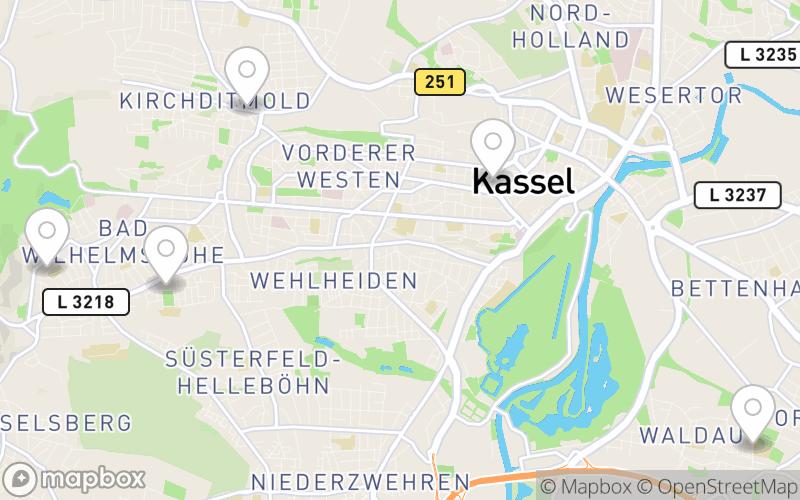 Schullandkarte Nordhessen
