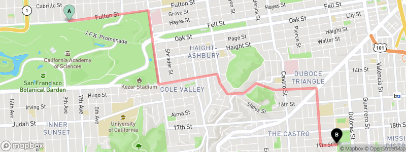 static mapbox map with route and point overlays