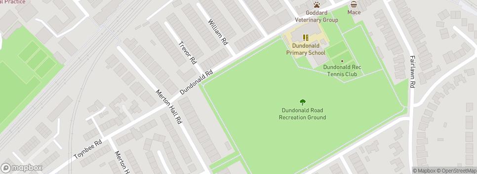 Dundonald United FC Wimbledon Chase School sports ground