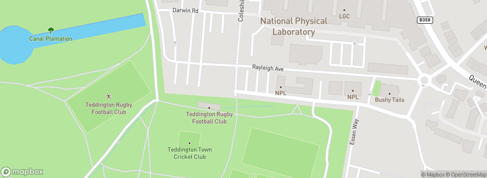 Teddington RFC Club Car Park is in Dora Jordan Road
