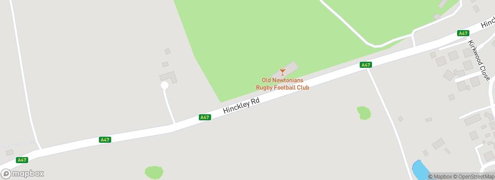 Old Newtonians RFC   Est. 1904 A47 - Hinckley Road