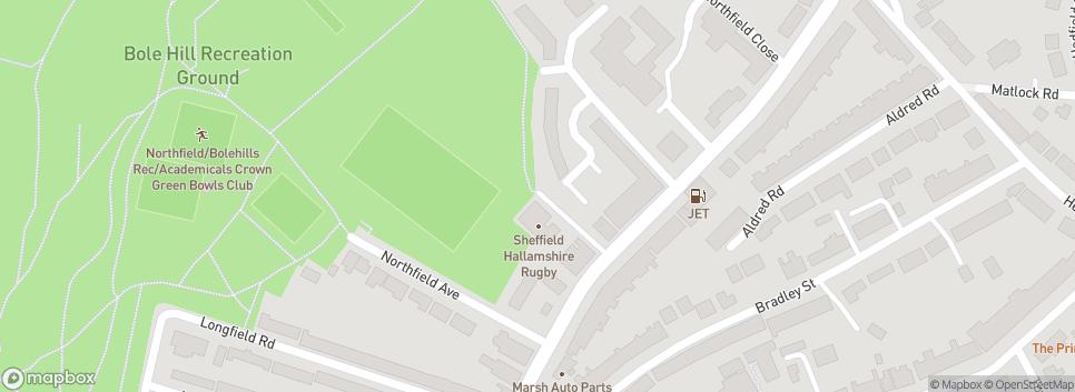 Sheffield Hallamshire R.U.F.C Bolehill Recreation Ground