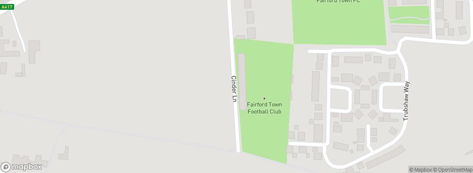 Fairford Town Football Club Cinder Lane