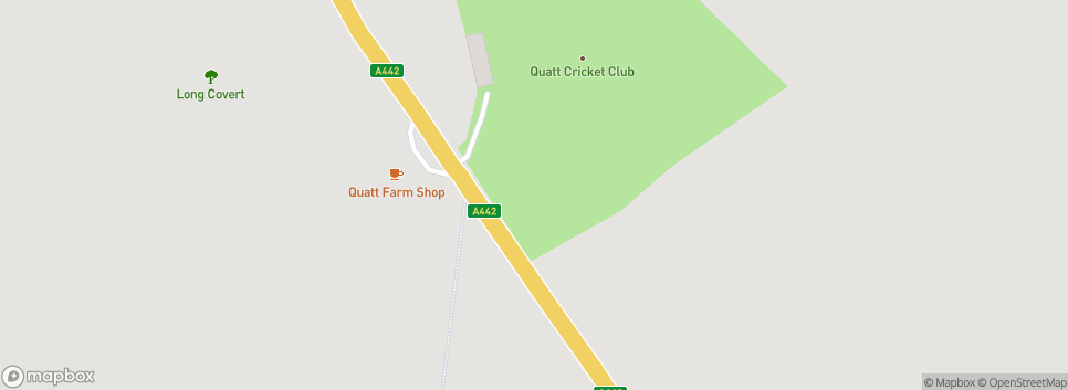 Quatt Cricket Club The Quatt Oval