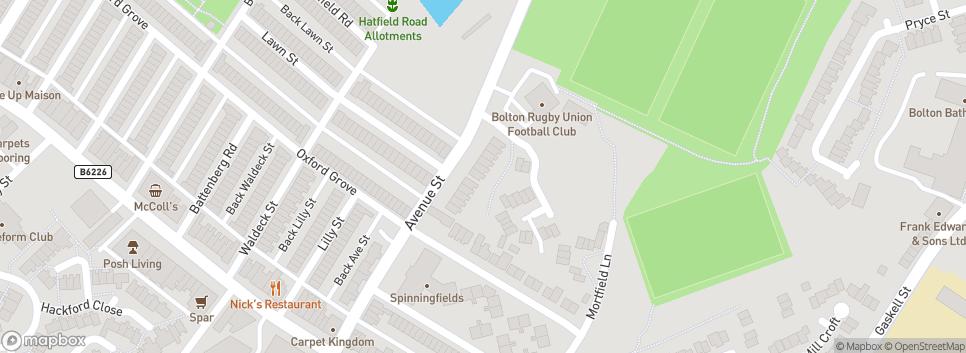 Bolton R.U.F.C. Avenue Street