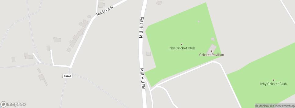 Irby Cricket Club Mill Hill Road