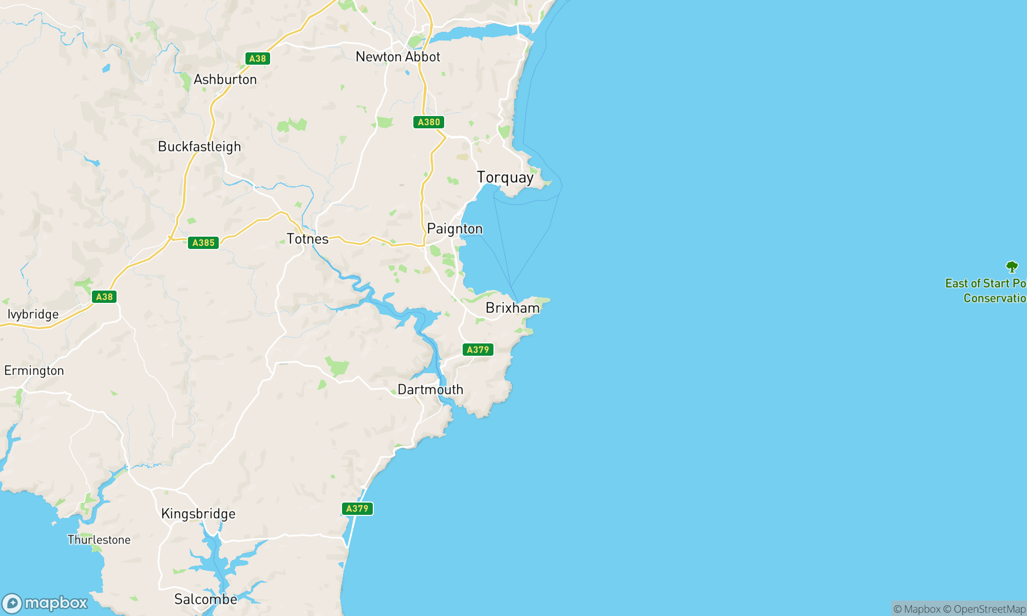 Static map of CSA location