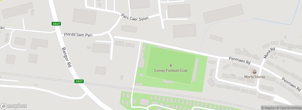 Conwy Borough Football Club Y Morfa Stadium