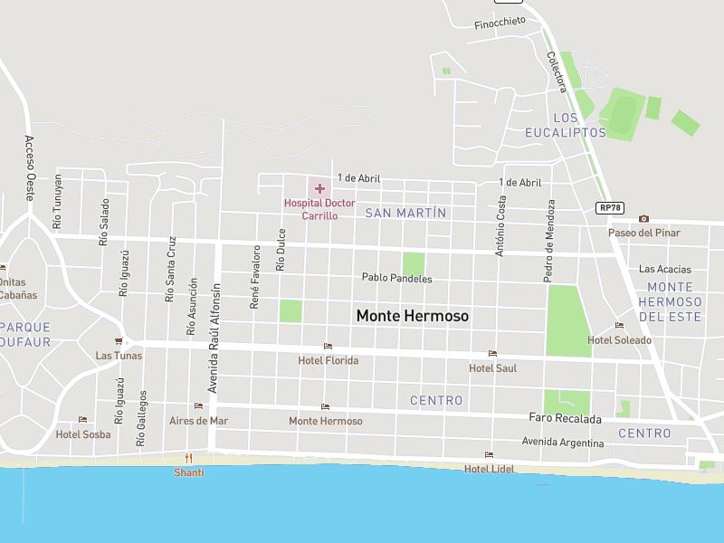 Mapa de Monte Hermoso