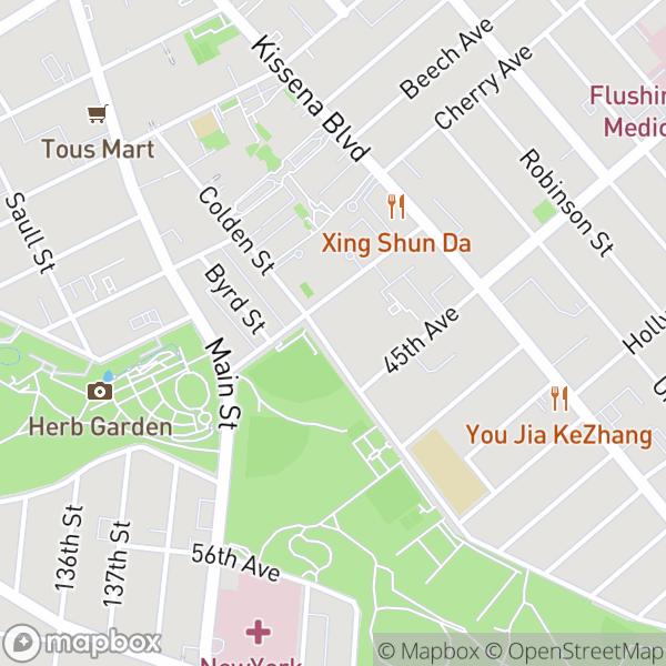 44-15 Colden St #3D Map