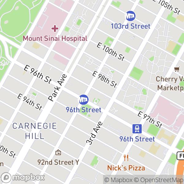 1501 Lexington Ave #9D Map