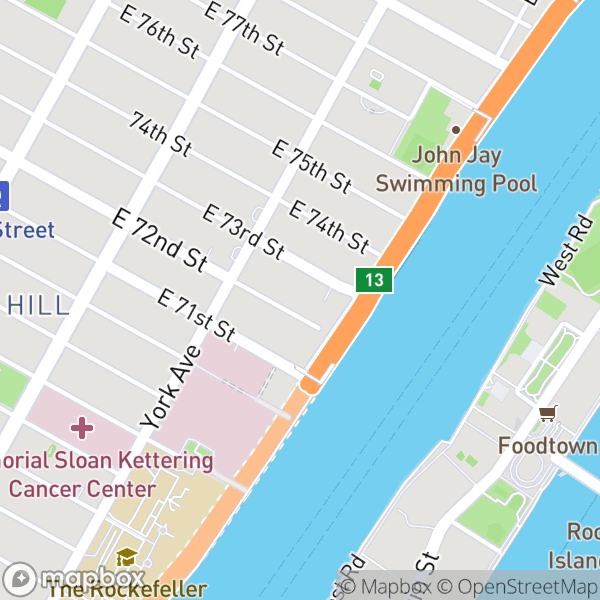 525 E 72 St #16D Map