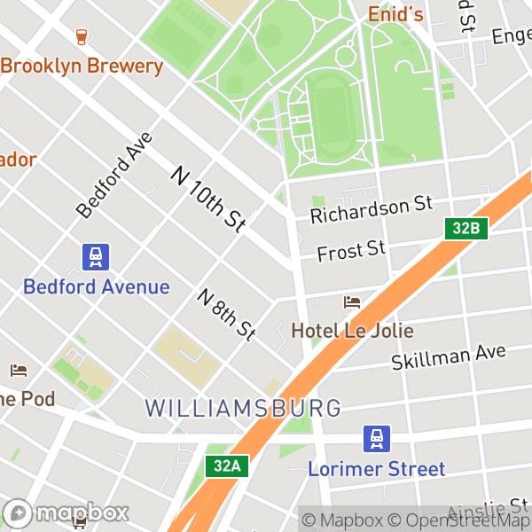 250 N 10 St #608 Map