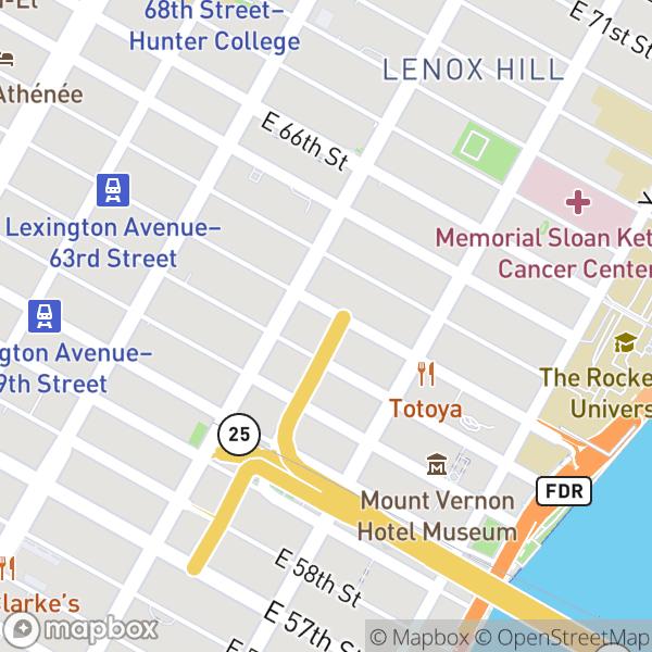 316 E 63 St #2F Map