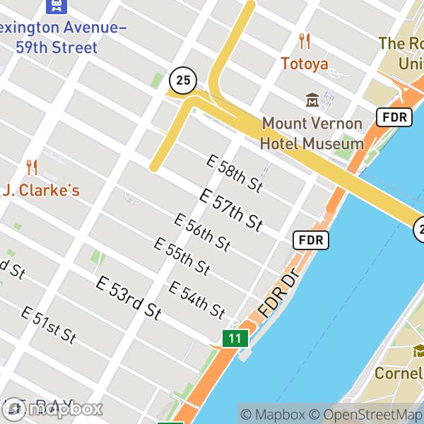400 E 57 St #17G Map
