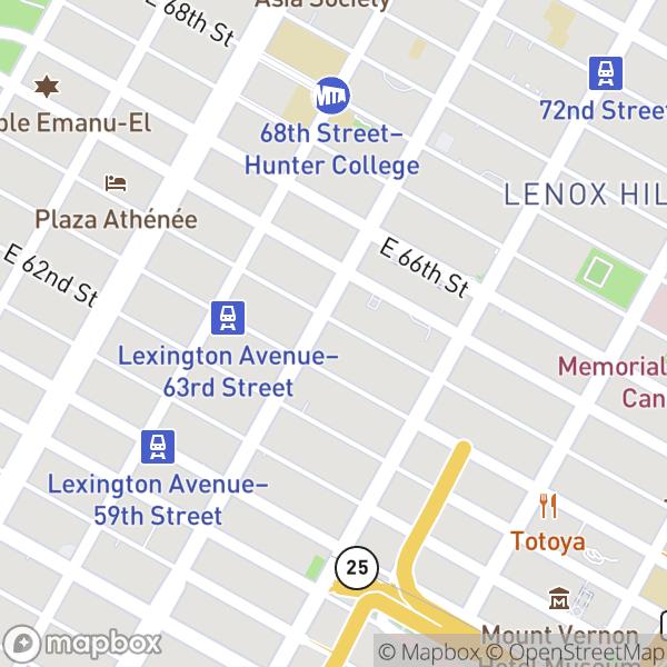200 E 64 St #29BC Map