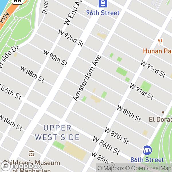 189 W 89 St #16F Map