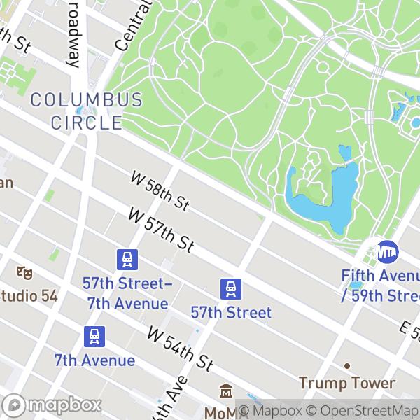 145 W 58 St #7J Map