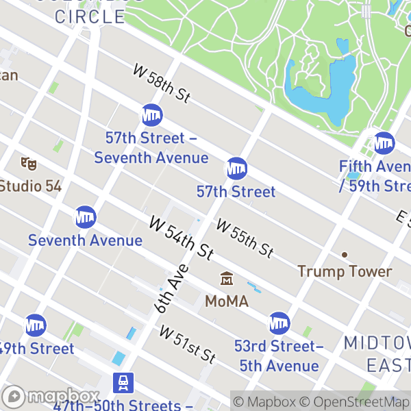 101 W 55 St #1210 Map