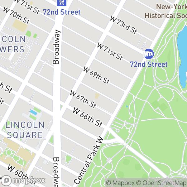 48 W 68 St #1E Map