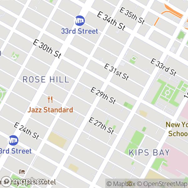 154 E 29 St #710 Map