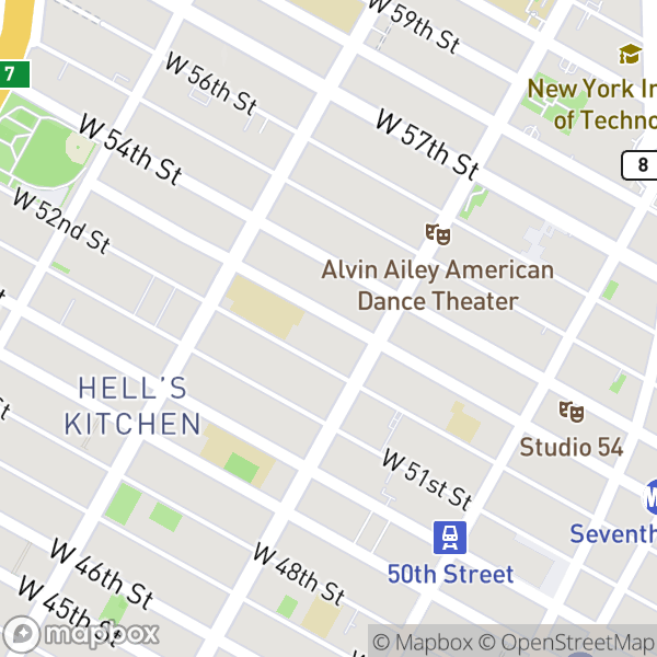 410 W 53 St #522 Map