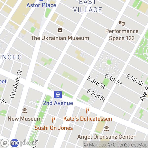 78 E 3 St #1A Map