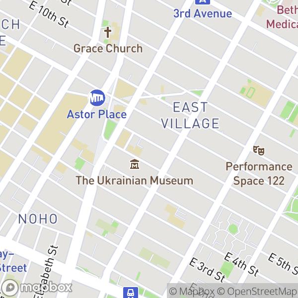 34 E 7 St #3E Map
