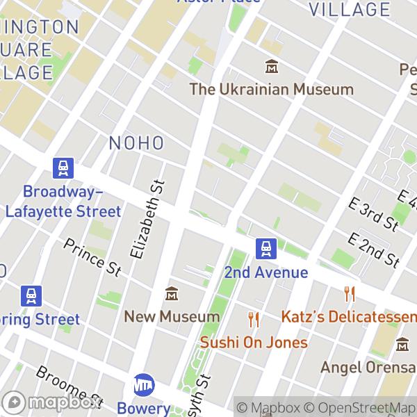 11 E 1 St #501 Map