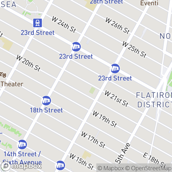 120 W 21 St #216 Map