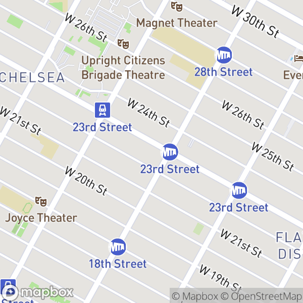 208 W 23 St #703 Map