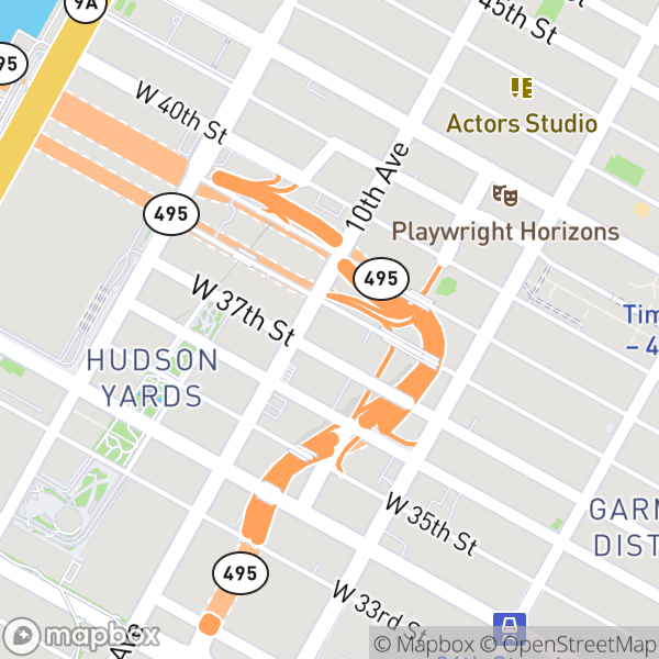 455 W 37 St #927 Map