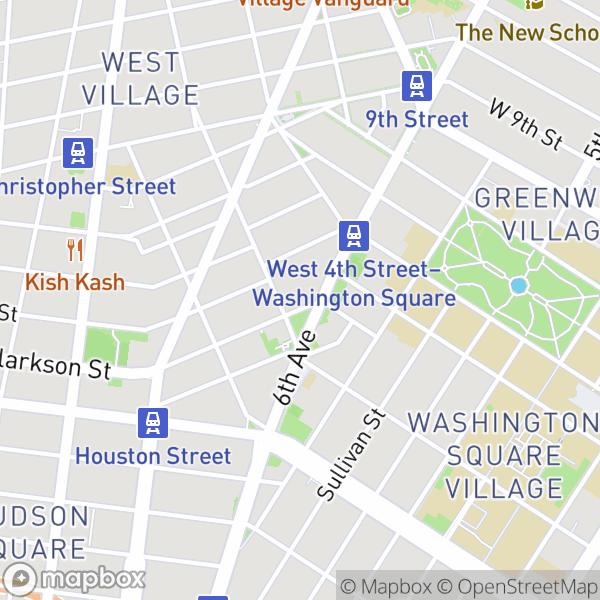 7 Carmine St #1 Map