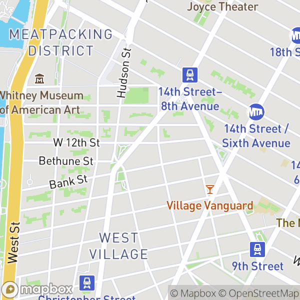 290 W 12 St #1F Map