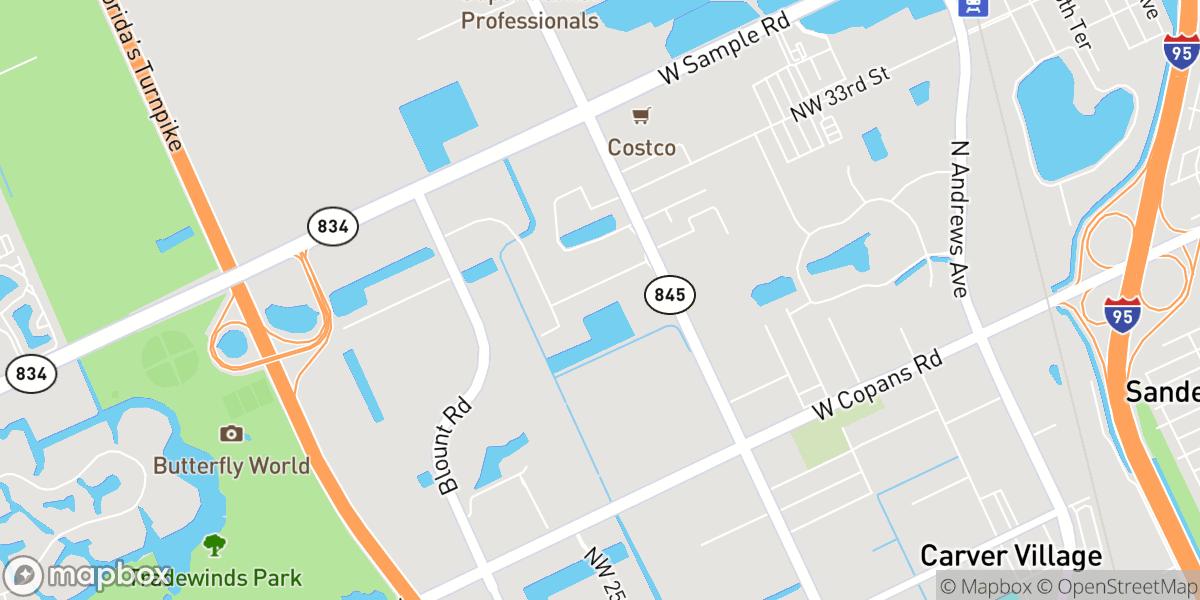 Mapbox Map of Hilex Construction Home Office
