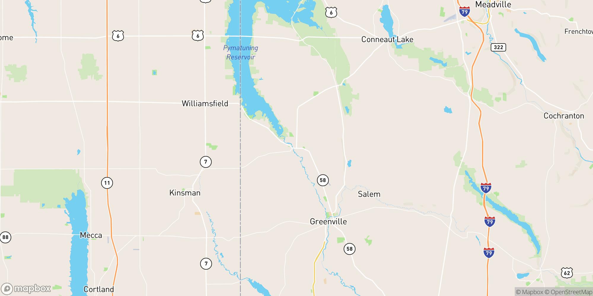 Map of Well-Established Family Restaurant in Mercer County