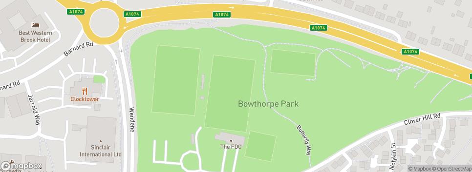 Norwich CBS Football club Bowthorpe Park