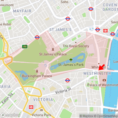 Location of City of Westminster within SW1A