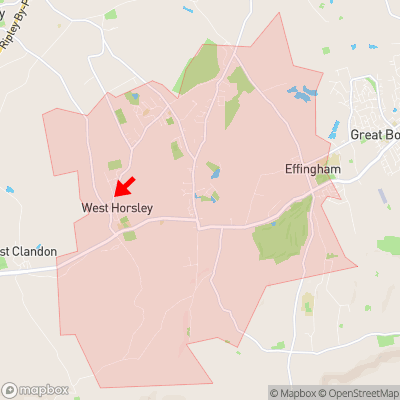 Location of West Horsley within KT24