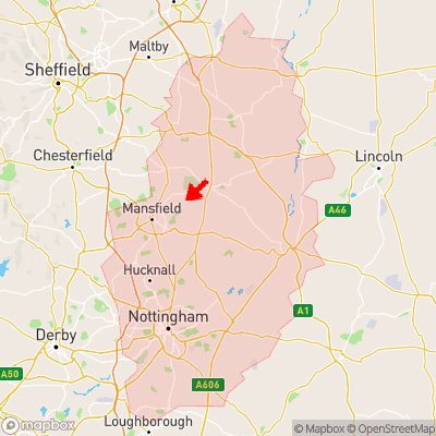 Location of Kings Clipstone within Nottinghamshire