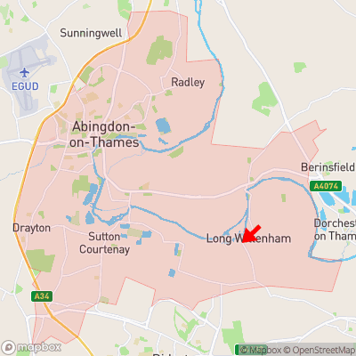 Location of Long Wittenham within OX14