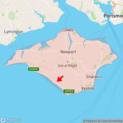 Location of Atherfield Green within Isle of Wight