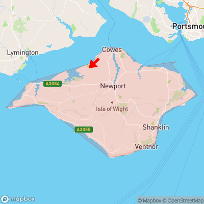 Location of Great Thorness within Isle of Wight