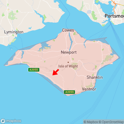 Location of Yafford within Isle of Wight